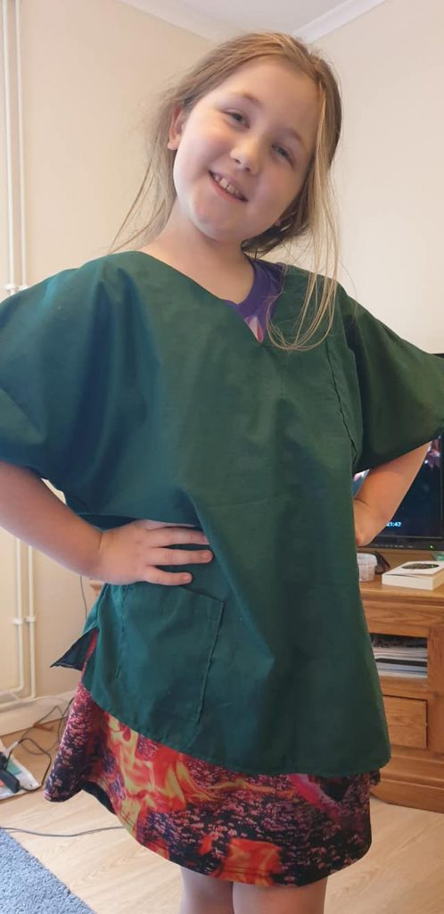Sewing scrubs for the NHS