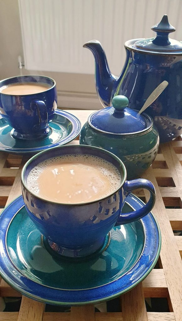 One of my favourite tea sets. Denby blue.