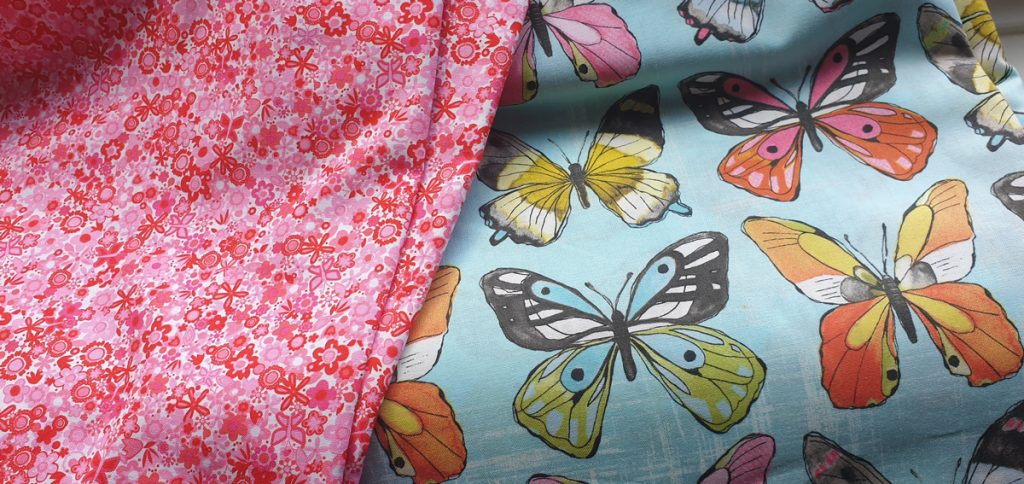 Butterfly fabric.